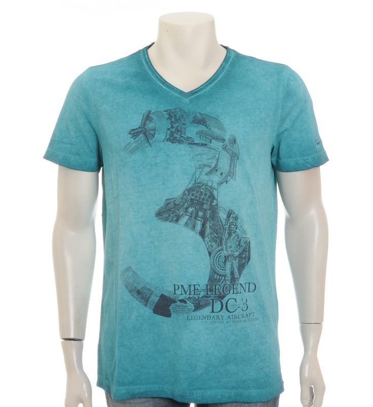 PME Legend - Pall Mall T-shirt in Emerald - NummerZestien.eu