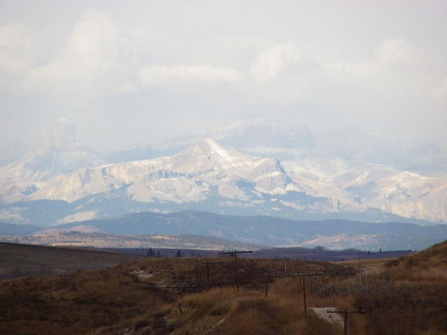 View of Rocky Mountains from Glenbow Ranch, Cochrane by KiwiHugger, via Flickr