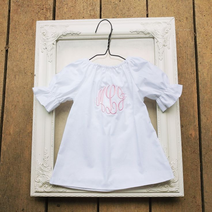 In my #etsy shop: Monogrammed coming home outfit, white baby dress, master circle monogram, baby girls shower gift, long sleeve coming home outfit, gown http://etsy.me/2GIK4Mh #clothing #children #baby #white #newborn #dress #coming