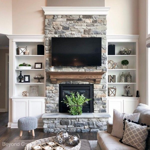 20 Best Stone Fireplace Ideas For A Cozy Home Farm House Living Room Stone Fireplace Decor Home Fireplace