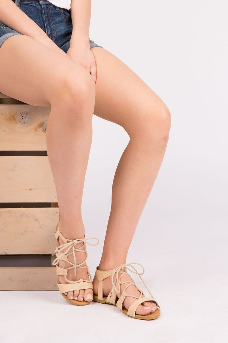 Girls Gladiator Lace Up Sandals