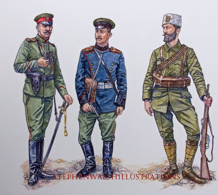 Bulgarian army soldiers at time of Balkan Wars, 1911-13
