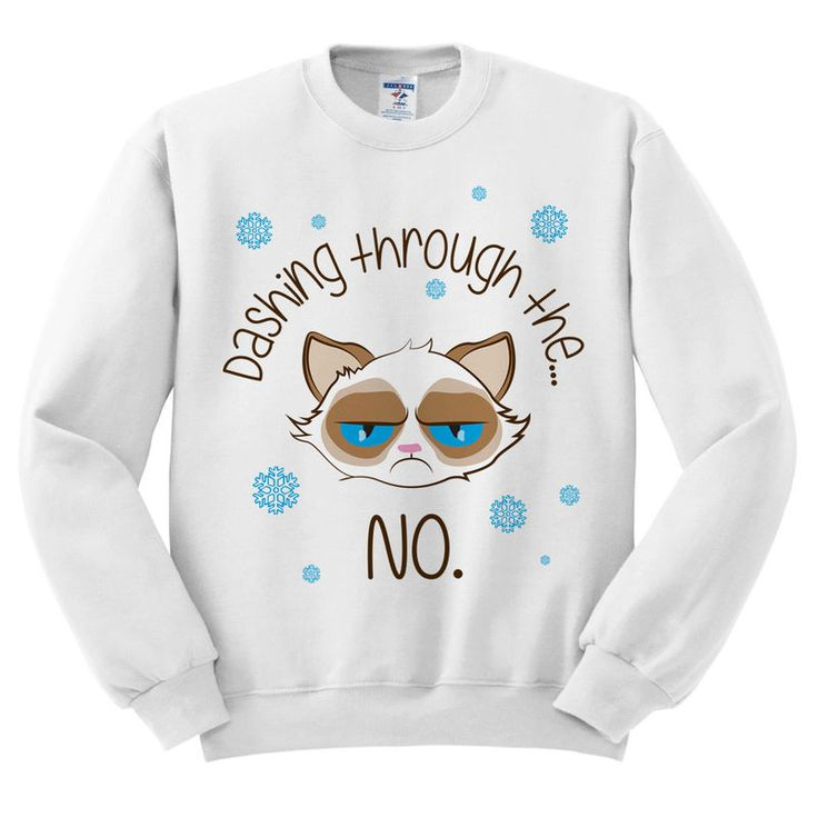 This Grumpy Cat Christmas Sweater Dashes Holiday Spirit #homebody #gifts trendhunter.com