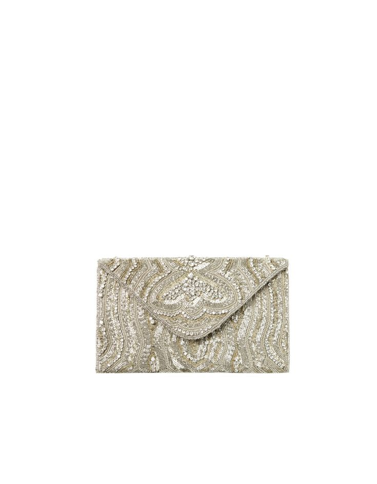 Zara Mini Sequin Clutch #prom