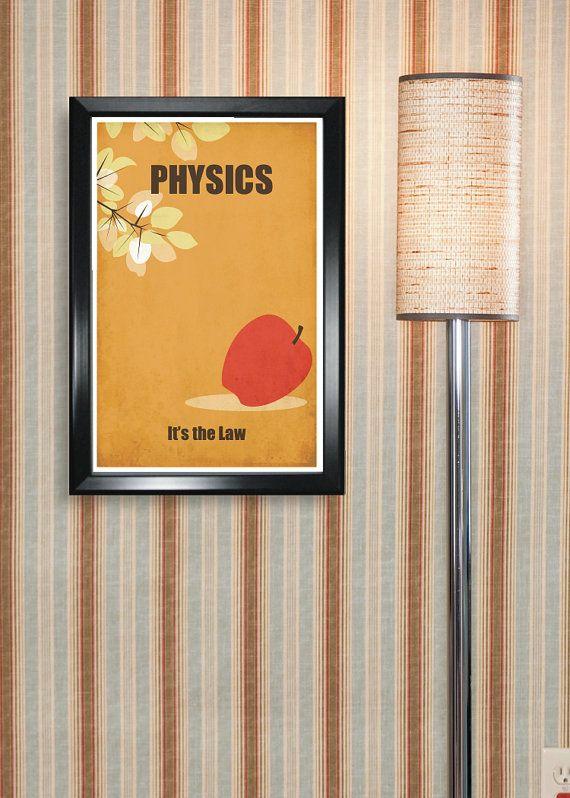 Physics 11x17 minimalism poster print graduation for Minimalist dorm room decor