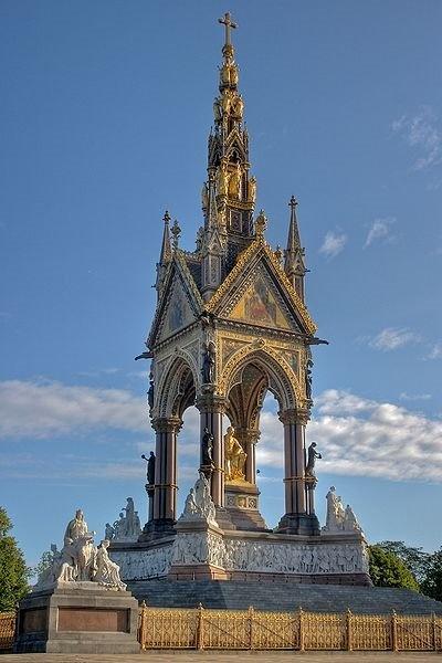 The Albert Memorial in Hyde Park in London