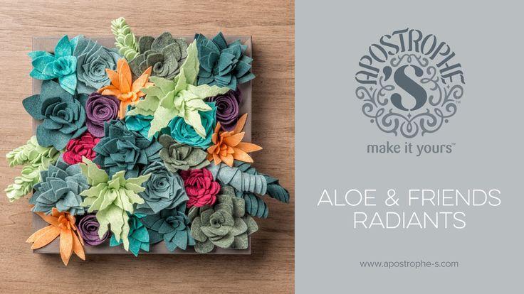 Felt Succulents Project   DIY Home Decor Crafts    Apostrophe S   Aloe a...