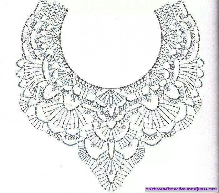 Perfecto Patrones Collares De Ganchillo Embellecimiento - Ideas de ...