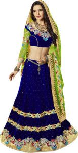 The #blue #green pattern and the colour say it all about the lehenga.