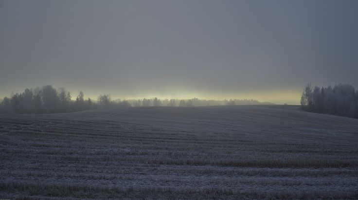 I took this picture one morning the air stood completely still. Icy silence broken only by the distant glow of the sun on the horizon.