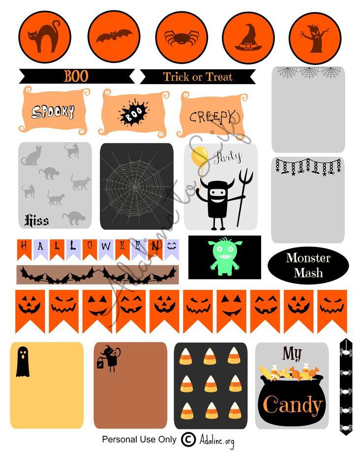 FREE Halloween Planner Stickers for Erin Condren Life Planner