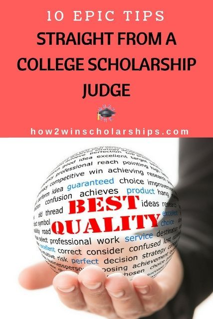 10 Epic Tips Straight from a College Scholarship Judge - PIN THIS NOW!