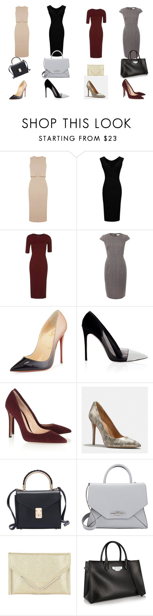 """Claire Underwood style"" by ilsec ❤ liked on Polyvore featuring Topshop, Christian Louboutin, Prabal Gurung, Gianvito Rossi, Coach, Givenchy, BCBGMAXAZRIA and Balenciaga"