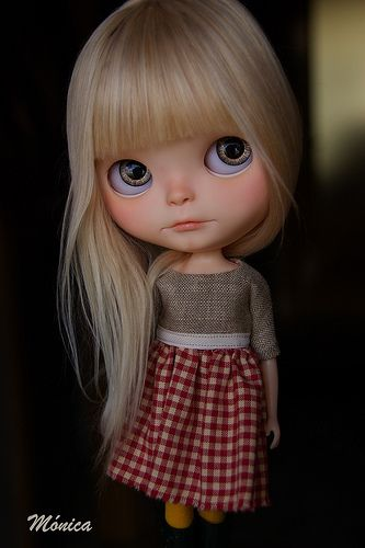 Britta | custom blythe by Monica One of the prettiest alpaca reroots ever!