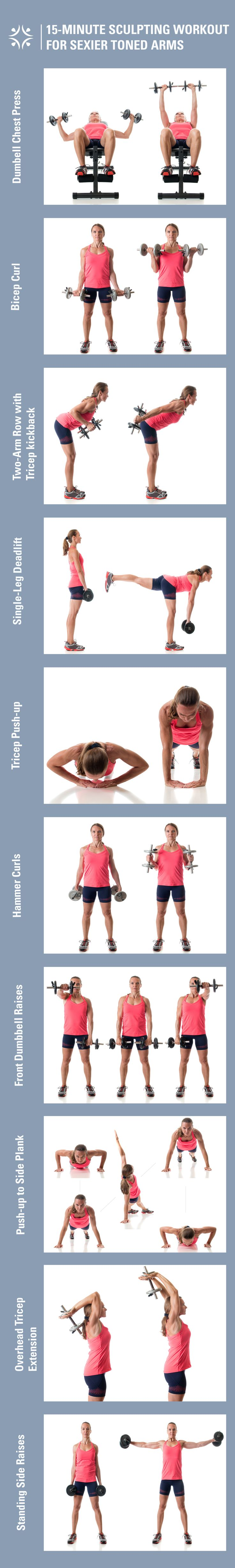 15-minute workout for sexier sculpted arms.