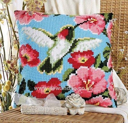 Buy Hummingbird Cushion Front Chunky Cross Stitch Kit online at sewandso.co.uk