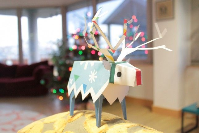 Fantastic list of printable Christmas crafts, lots of them free. Love this reindeer!