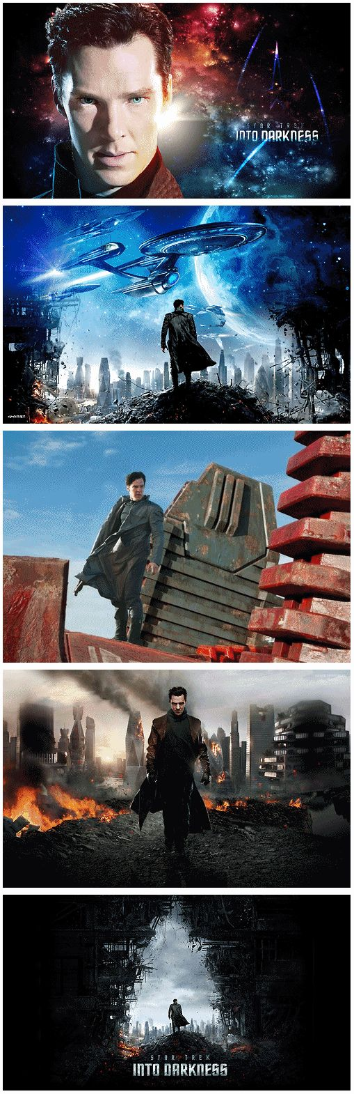 Star Trek Into Darkness. Holy mother I have the most firing burning passion for benedict cumberbatch in the entire world.