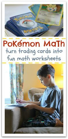 Pokemon fan at home? Use Pokemon cards for this math activity. From @Allison @ No Time For Flash Cards