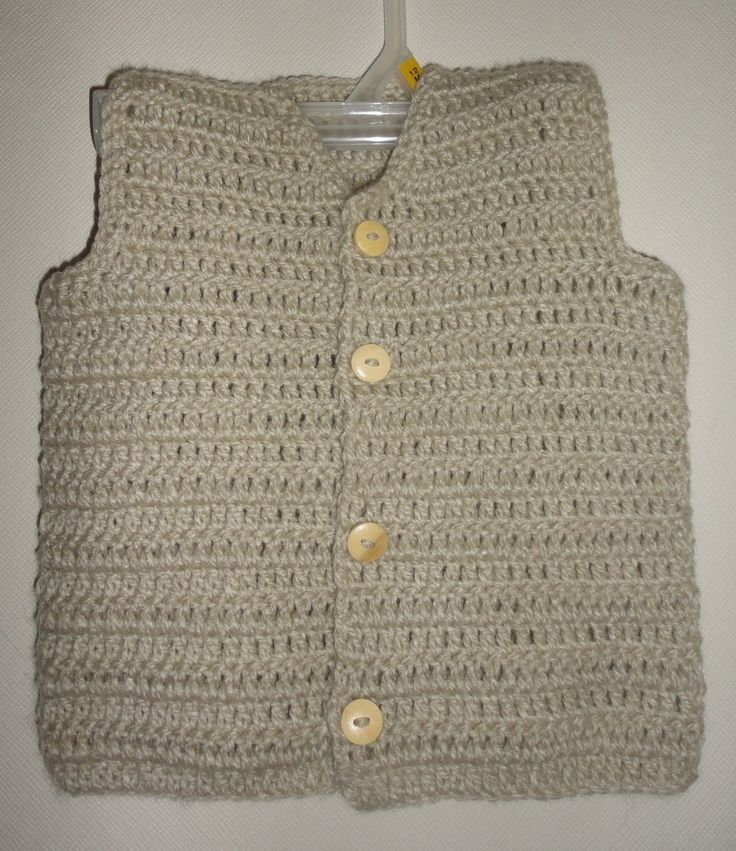 Chaleco bebé crochet  $4.000