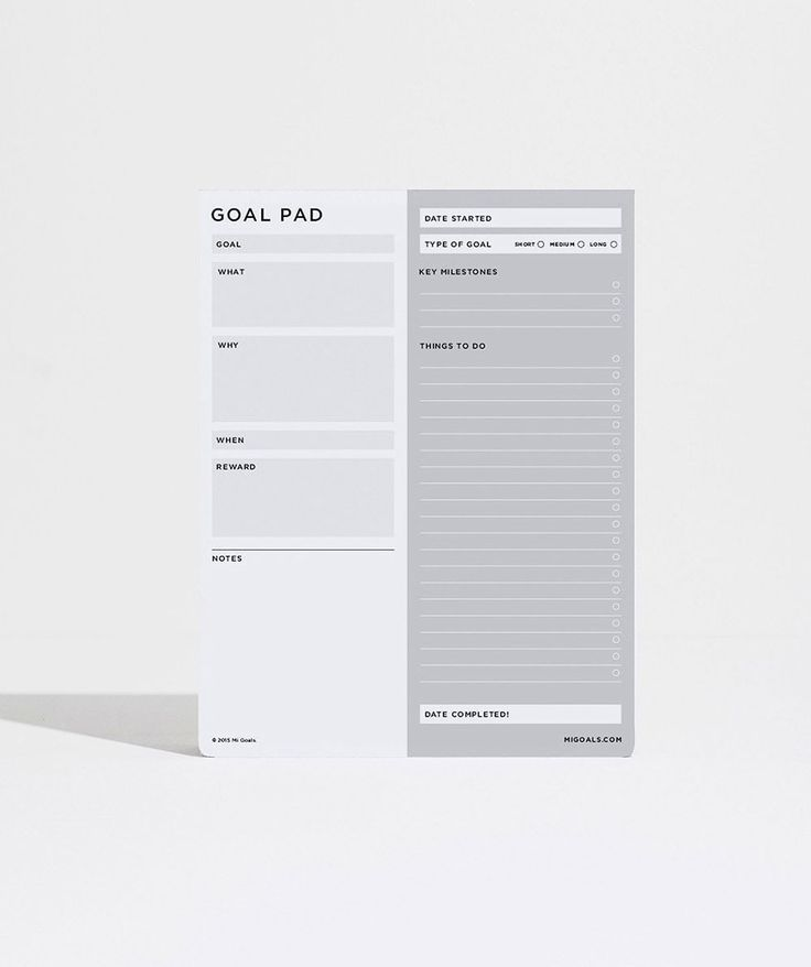 Goal Pad. | http://www.huntingforgeorge.com