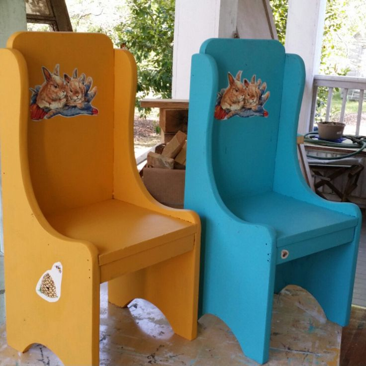 Wonderful Adorable Little Chairs Painted With Dixie Belle Paint Colors Colonel  Mustard And Pure Gulf.