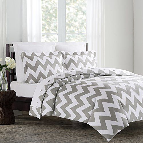 Echelon Home Chevron Duvet Cover Set, Twin, Feather Gray Echelon Home http://www.amazon.com/dp/B00FZS3C02/ref=cm_sw_r_pi_dp_vX6Zub1HFJ623