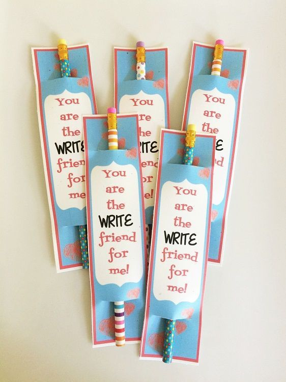 Pencil Valentine Free Printables - You are the WRITE friend for me!
