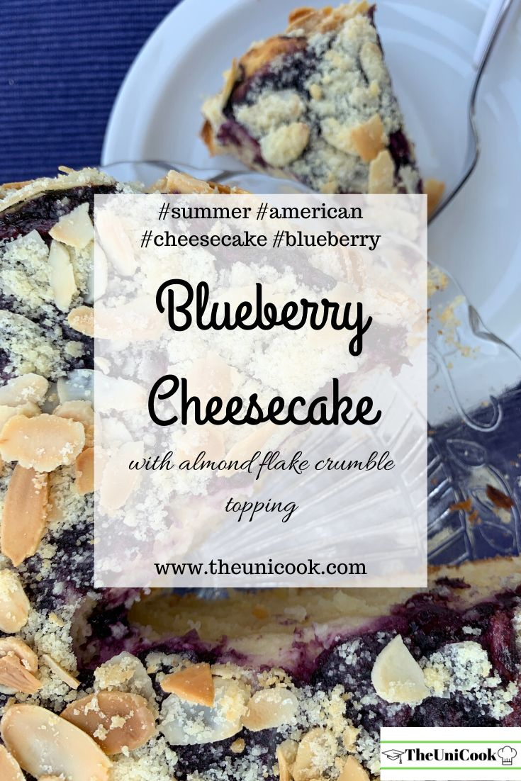American Blueberry Cheesecake | Summer | Baked Cheesecake