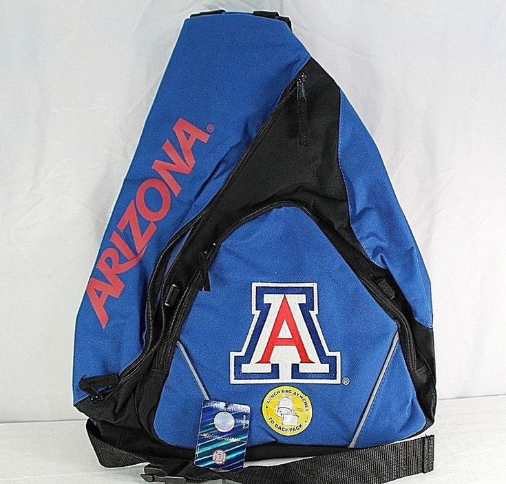 University of Arizona Wildcats Sling Backpack Teardrop Blue/Black Collegiate #UniversityofArizonaWildcats