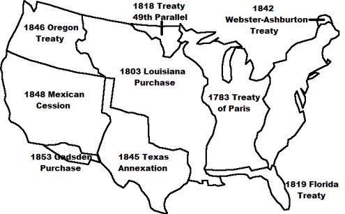 Manifest Destiny Map Manifest Destiny Map | Social Studies Teaching Ideas | Westward  Manifest Destiny Map