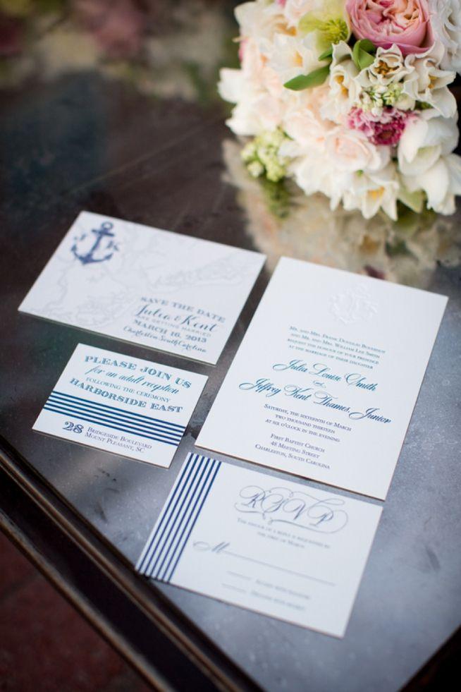 Nautical Wedding Invitations and wedding at Harborside