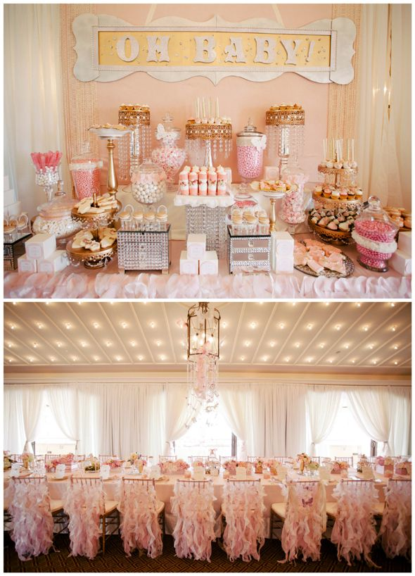 Baby Shower Themes Gold ~ Whimsical pink and gold baby shower showers