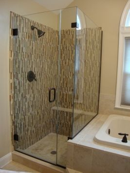 frameless shower glass clamps oil rubbed bronze