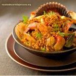 arroz con mariscos - receta en espanol - platos peruanos