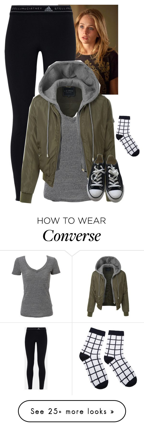 """Amber Robbins - Searching for the body"" by fandomqueen-378 on Polyvore featuring adidas, Simplex Apparel, LE3NO and Converse"
