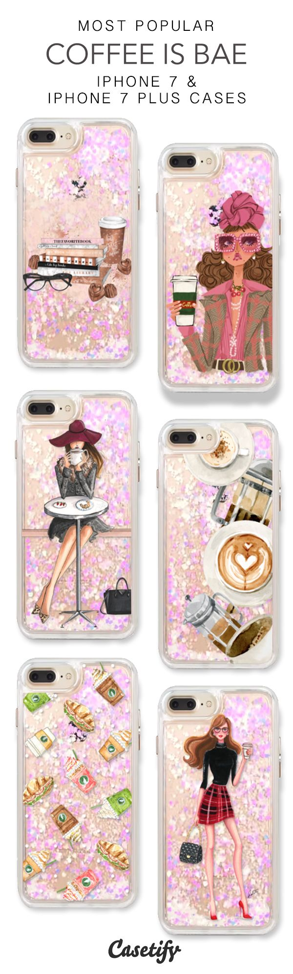 Most Popular Coffee Is Bae iPhone 7 Cases & iPhone 7 Plus Cases. More liquid glitter iPhone case here > https://www.casetify.com/en_US/collections/iphone-7-glitter-cases#/?vc=1qjpyjGdBB