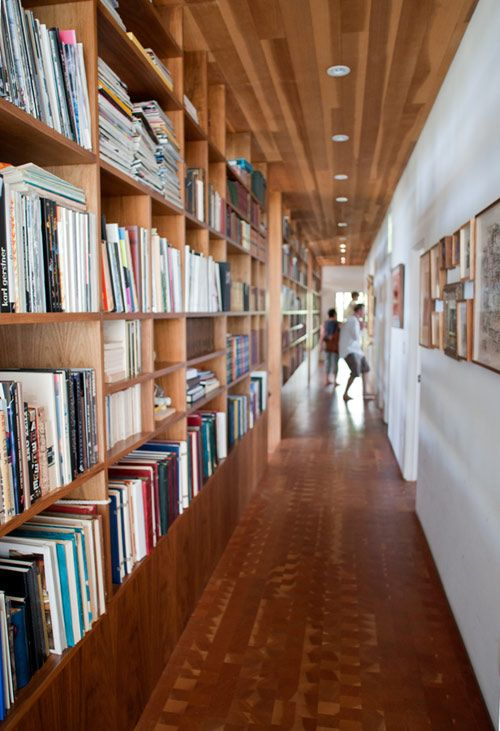 no room for a library? Why not use the hallway?