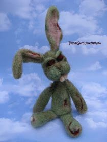 POTIONSMITH: Felted Zombie Bunnies