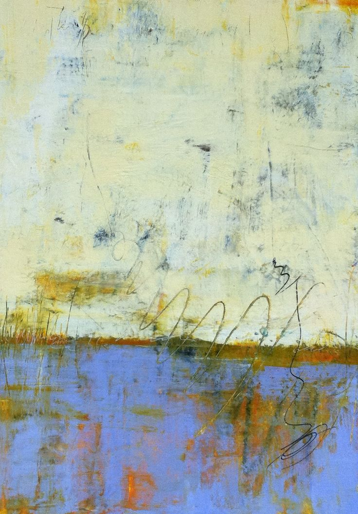 Cindy Walton, Beginnings 30x40 painting, cold wax and oil