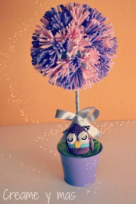 Creame y mas: DIY - Topiario de goma eva