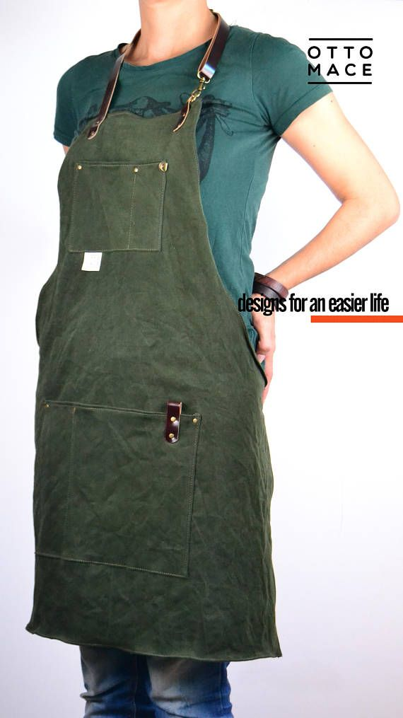 DENIM LEATHER Apron