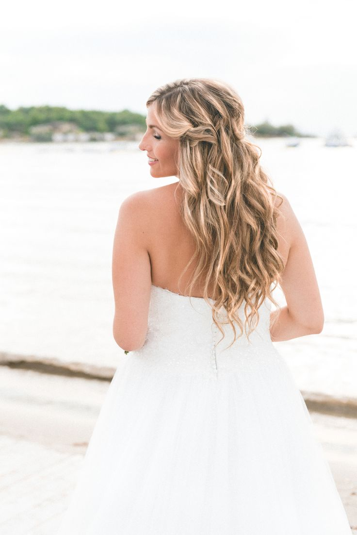 LOVE this pic! Beautiful Carmen with a waterfall hairdo! Destination wedding in Glyfada, Athens, Greece. Makeup and Hairstyling by AntigoniLivieratou.com