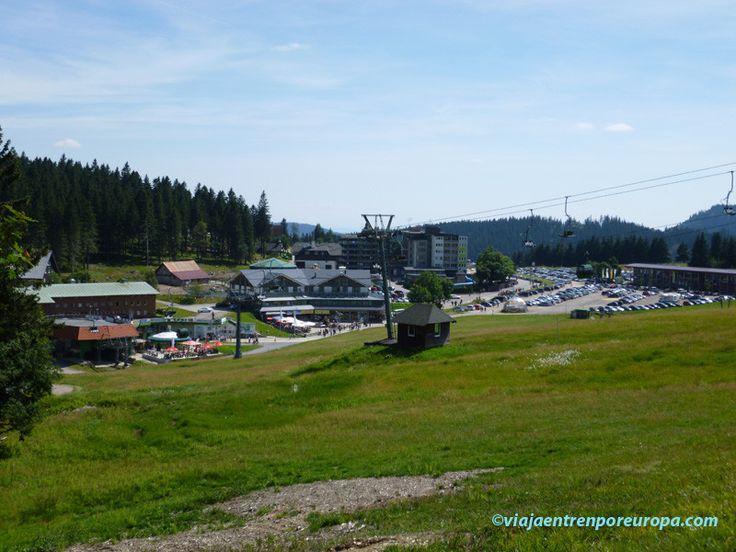 Vistas de la estación del Feldberg, subiendo a la cima.