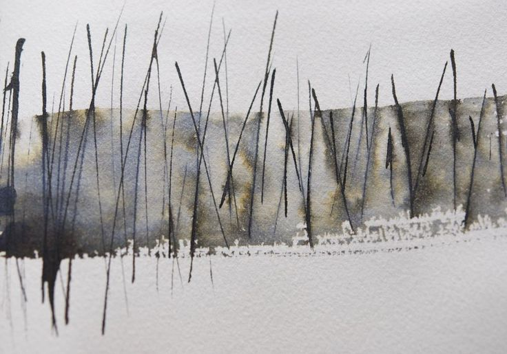 Great article if you like working in considered and limited blocks Mark making ink Helen Terry