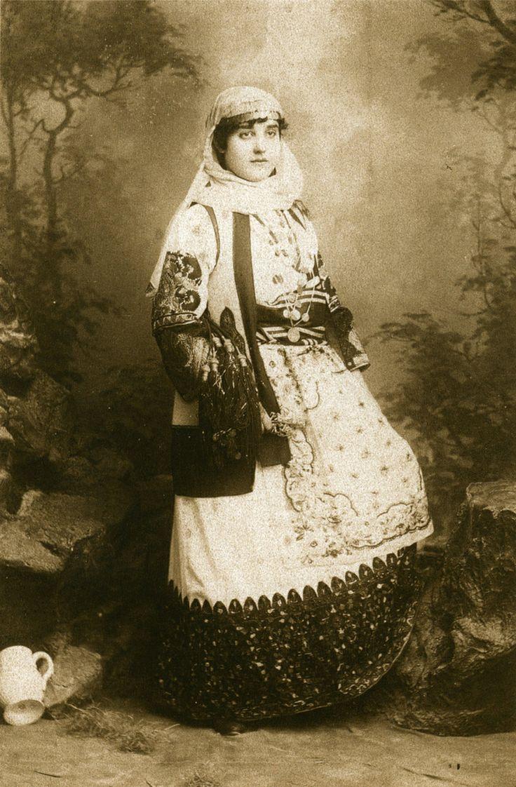 Petros Moraitis: Unknown woman in Attic dress (c.1880s)