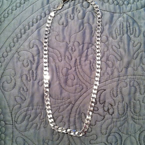 Mens chain  necklace Stamped with 925 Italy bought from Kay's  new never worn Jewelry Necklaces