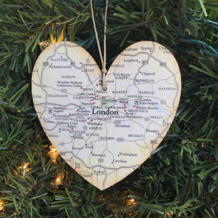 Personalized London Ornament London Map Ornament London