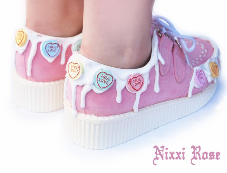 Loveheart Candy Creepers by NixxiRose on Etsy, $70.00