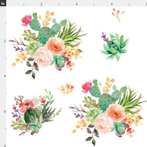 Boho-Kaktusblumen passten Kinderbett- oder Kleinkindblatt, Wickelunterlage, Babybettwäsche – Blumen-, Azteken-, Boho-, Kakteen-, Rosa-, Pfirsich-, Grün-, Blumen